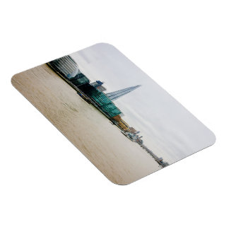 The Shard and river Thames, London UK Rectangle Magnets
