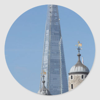 The Shard and Tower of London Classic Round Sticker