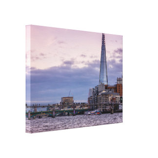 The Shard Evening Sky In London, UK Canvas Print
