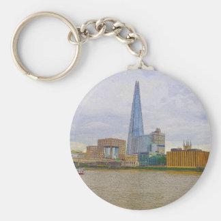 The Shard, Thames River, London, England Keychain