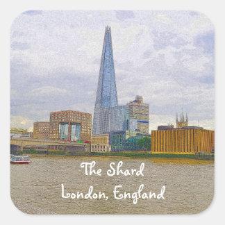 The Shard, Thames River, London, England Square Sticker