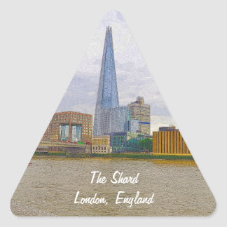 The Shard, Thames River, London, England Triangle Sticker