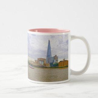 The Shard, Thames River, London, England Two-Tone Coffee Mug