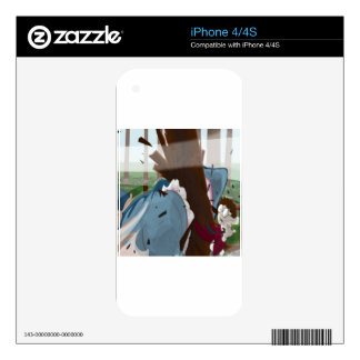 The Shark in the Park (Original Artwork) Skin For The iPhone 4