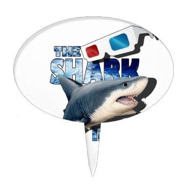 Beach Themed The Shark Movie Cake Topper