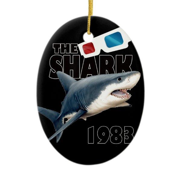 The Shark Movie Ceramic Ornament