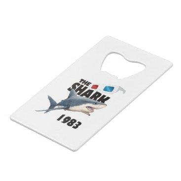 Beach Themed The Shark Movie Credit Card Bottle Opener