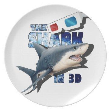 Beach Themed The Shark Movie Dinner Plate