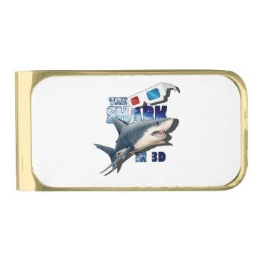 Beach Themed The Shark Movie Gold Finish Money Clip