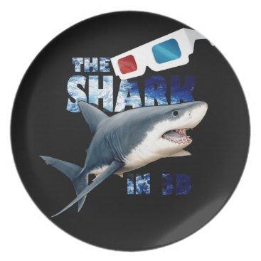 Beach Themed The Shark Movie Melamine Plate