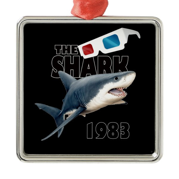 The Shark Movie Metal Ornament