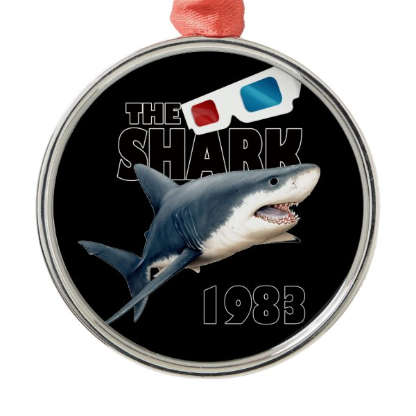 The Shark Movie Metal Ornament