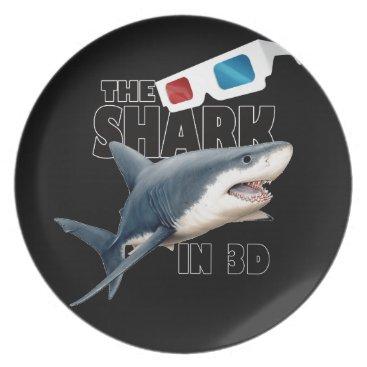 Beach Themed The Shark Movie Plate