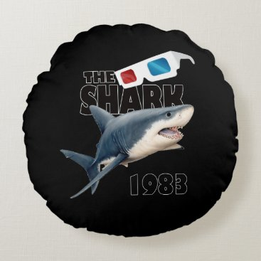 Beach Themed The Shark Movie Round Pillow