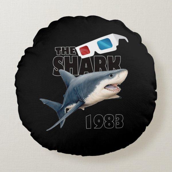The Shark Movie Round Pillow