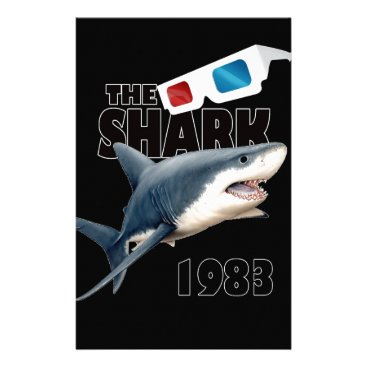 Beach Themed The Shark Movie Stationery