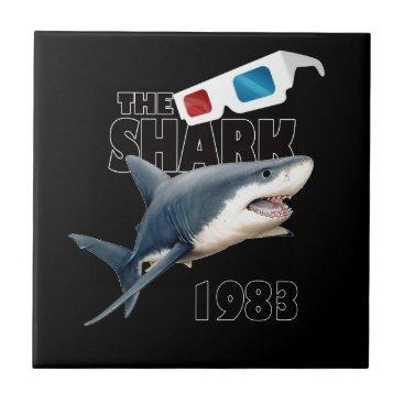 Beach Themed The Shark Movie Tile