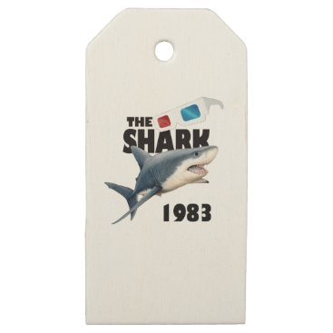 Beach Themed The Shark Movie Wooden Gift Tags
