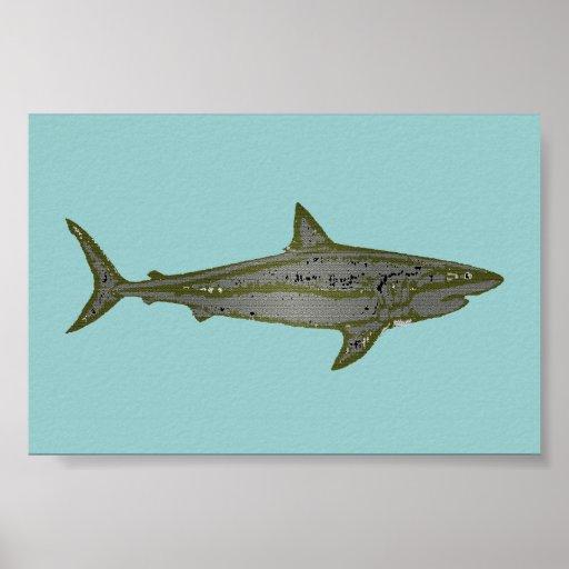the shark print
