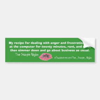 The Sharpie Ninjas logo bumper sticker