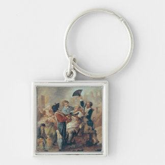 The Shaving Mug of Lille, 1793 Silver-Colored Square Keychain
