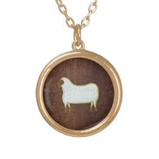 The Sheep 2009 Round Pendant Necklace