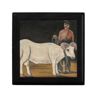The Sheep by Niko Pirosmani Keepsake Box