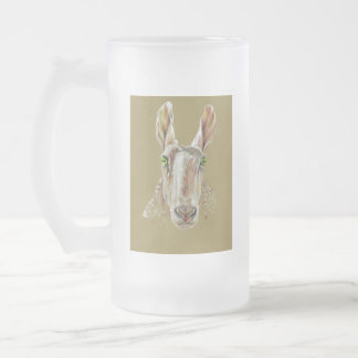 The Sheep Frosted Glass Beer Mug