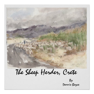 The Sheep Herder, Crete... Poster