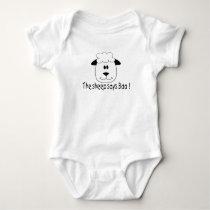 The Sheep Says Baa Baby Bodysuit