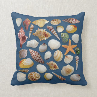 The Shell Collector Navy Pillow
