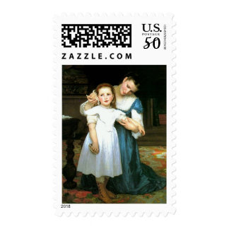 """The Shell"" William-Adolphe Bouguereau Stamps"