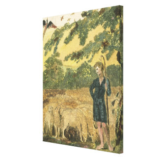 The Shepherd, from 'Songs of Innocence', 1789 (col Canvas Print