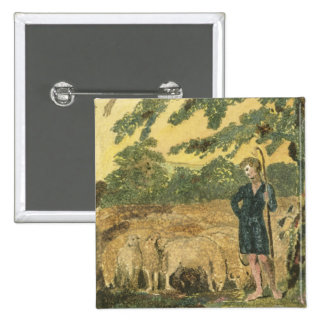 The Shepherd, from 'Songs of Innocence', 1789 (col Pinback Button