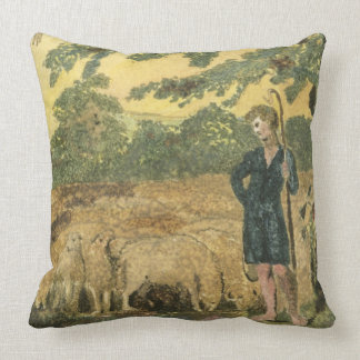 The Shepherd, from 'Songs of Innocence', 1789 (col Throw Pillow