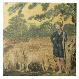 The Shepherd, from 'Songs of Innocence', 1789 (col Tiles