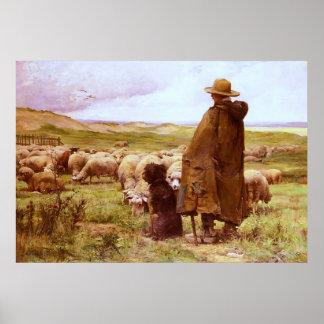 The Shepherd ~ Julien Dupré ~ Fine Art Canvas Poster