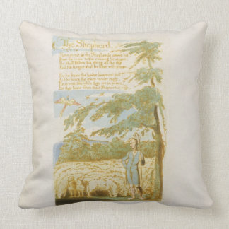 'The Shepherd', plate 15 from 'Songs of Innocence' Throw Pillow