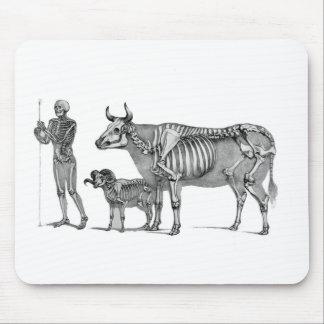The Shepherd - Skeleton Bovine And Goat Mouse Pad