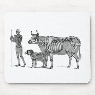The Shepherd - Skeleton Bovine And Goat Mouse Pads