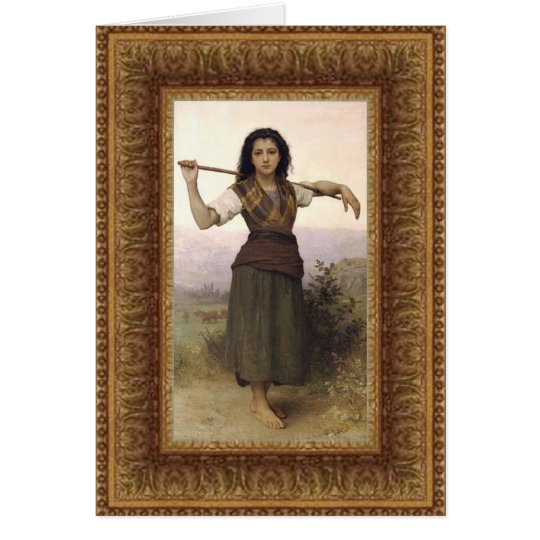 """The Shepherdess"" 1889 Card"