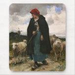"""The Shepherdess""~Border Collie Mousepad"