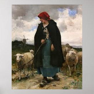 """The Shepherdess:~Border Collie Poster"