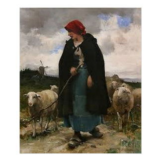 """The Shepherdess""~Border Collie Poster"