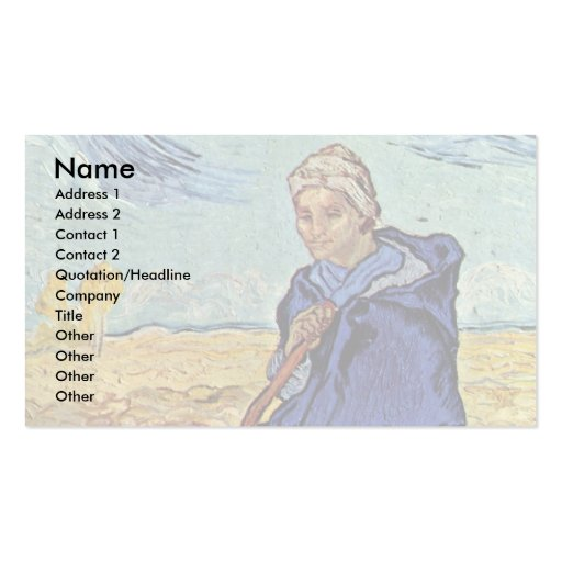 The Shepherdess By Vincent Van Gogh Business Card Templates