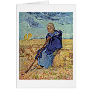 The Shepherdess By Vincent Van Gogh Greeting Card