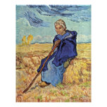 The Shepherdess By Vincent Van Gogh Custom Letterhead