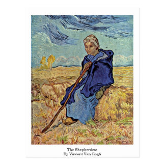 The Shepherdess By Vincent Van Gogh Postcards