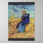 The Shepherdess By Vincent Van Gogh Print
