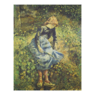 The Shepherdess, Camille Pissarro Poster